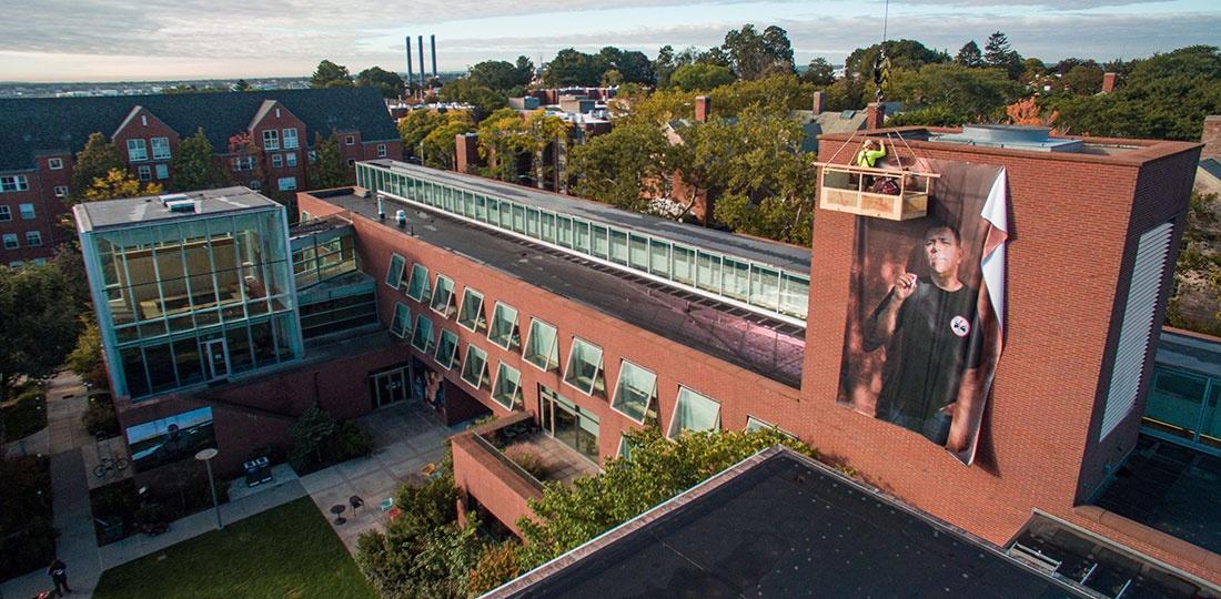 Watson Institute aerial shot