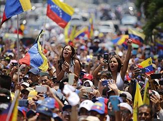A rally in Venezuela