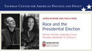 Jim Morone and Tricia Rose - Race and the Presidential Election