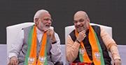 India's Prime Minister Narendra Modi and Amit Shah