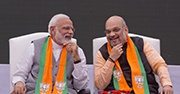 India's Prime Minister Narendra Modi and Amit Shah