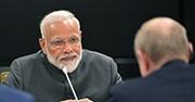 India Prime Minister Narendra Modi at the Shanghai Cooperation Organization summit