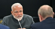 India Prime Minister Narendra Modi at the Shanghai Cooperation Organization summit