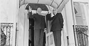 U.S. President Trump and Prime Minister Mohammad Mossadegh of Iran