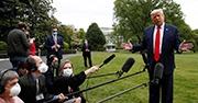 Trump speaking to reporters