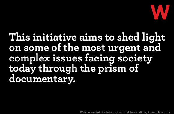 """Quote card: """"This initiative aims to shed light on some of the most urgent and complex issues facing society today through the prism of documentary."""""""