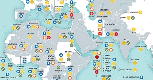 This Map Shows All The Places In The World Where The Us Military - Us-military-world-map