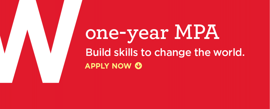One-year MPA -- Build skills to change the world