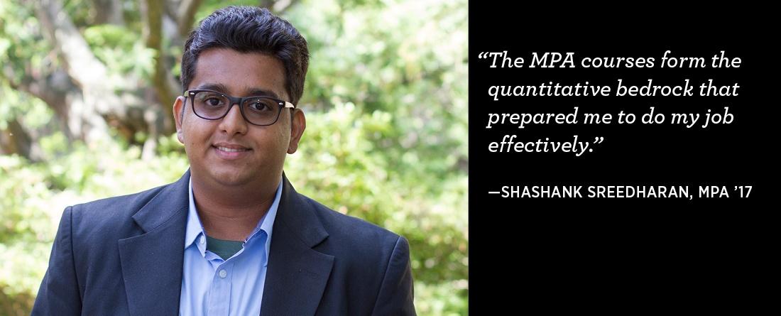 Alumni spotlight: Shashank Sreedharan, MPA '17