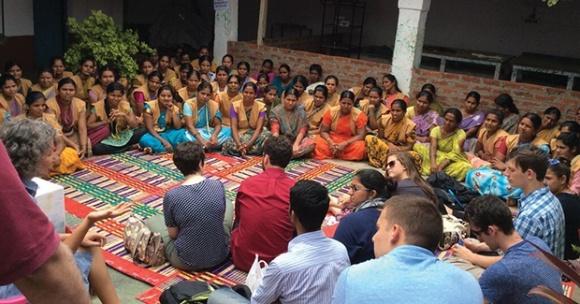 MPA students in Kodagahalli, India