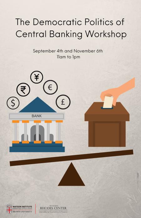 Democratic Politics of Central Banking workshop poster