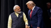 "Prime Minister Narendra Modi with US President Donald Trump at the ""Howdy Modi: Shared Dreams, Bright Futures"" event at NRG Stadium on September 22, 2019. (AP)"