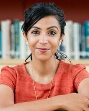 Prerna Singh in the Kim Koo Library