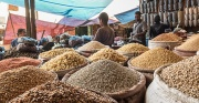 Image of dried pulses in Indian Market