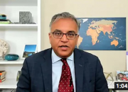 Ashish Jha in his office