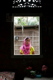 Mamtaj Begum at her home in Dalgaon, in the northeast Indian state of Assam. Her husband has been imprisoned for more than a year.