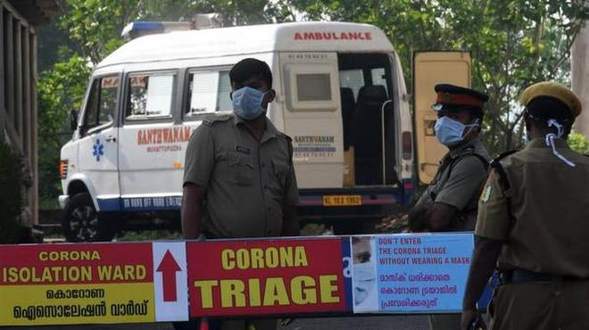COVI19 Triage checkpoint in Kerala