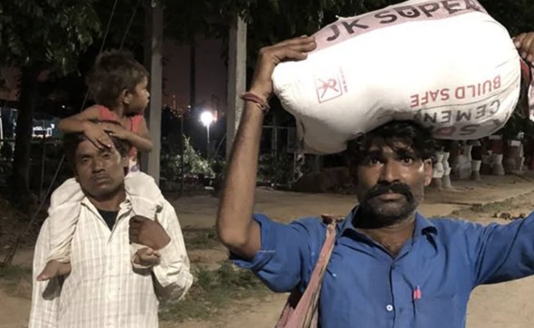 Ramesh and his family started walking from Gurgaon to Chhattarpur, Madhya Pradesh at 11 pm on May 9