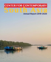 Boats in Bangladesh River, cover of CCSA 2019-2020 Annual Report
