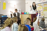 Instructional coaching in a classroom